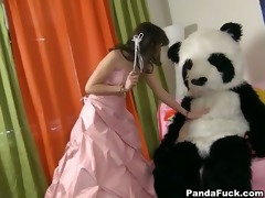 juvenile fairy revived toy panda and engulf