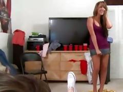 youthful bisex gals sucking rod