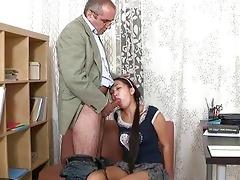 old trainer gets schlong loving act