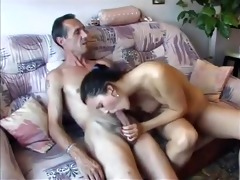 big dicked old dude fucking a chick
