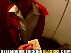 fucking glasses - bored beauty fucked for money