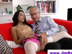 sweetheart in nylons sucks old chap
