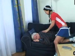 old guy bonks his hawt maid