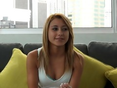 casting couch-x golden-haired gymnast receives