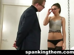 youthful teacher spanked by principal