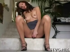 angel fondles her vagina