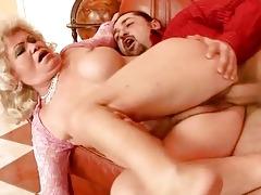 lusty old slut getting drilled hard
