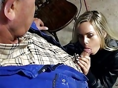 hawt golden-haired vixen has wild sex old boy