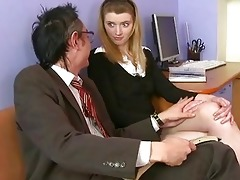 sexually excited old trainer giving lessons