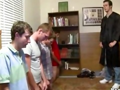 hazing action, lotsa youthful lads sucking,