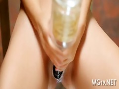 cutie plays with sex toy