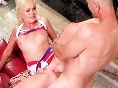 shaved player fuck very juvenile blond cheerleader