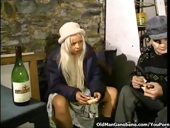 homeless blond double-fucked