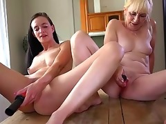 old lady and cute cutie masturbating with