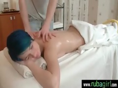 after a nice massage this hottie getting a hard