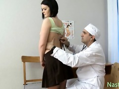 marvelous young bruntte go to the doctor