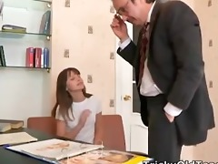 ninas teacher plays with her breasts and nina