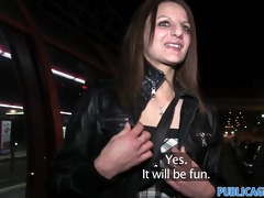 publicagent romana acquires her breasts out in