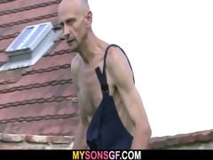 lewd gf cheats outdoors with her bfs daddy