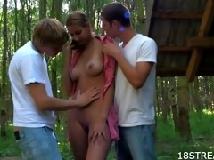 outdoor three-some satisfying