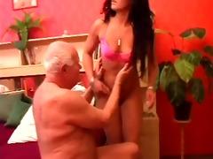 old stud gets his ramrod massaged