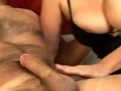 breasty cougar copulates her youthful neighbour