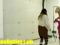 cute blond legal age teenager bonks with chaps at