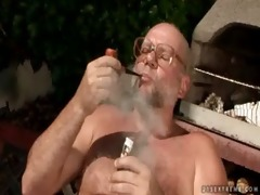 cherry kiss and grand-dad pissing