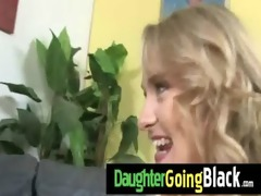 hawt daughter cock engulf and interracial fuck