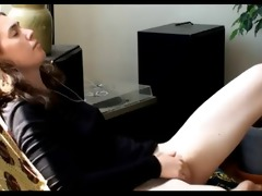 glamorous youthful beauty masturbate