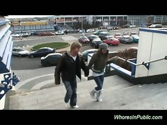 youthful pair fucking at the bus station