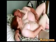 real obese daughter drilled by daddy