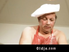 punchy oldman bonks with sexy youthful blond in