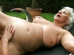 breasty grandma and youthful beauty have sex